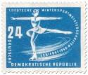 Stamp: Eiskunstläuferin (Schierke 1950)