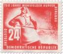 Stamp: Giesser Hochofen Mansfelder Kupferbergbau