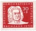 Stamp: Johann Sebastian Bach (Bachjahr 1950)