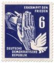 Stamp: Panzer, Taube und Hand