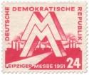 Stamp: Briefmarke DDR: Leipziger Messe 1951