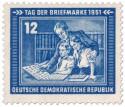 Stamp: Kinder sammeln Briefmarken (Tag der Briefmarke 1951)