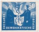 Stamp: Oder-Neiße Grenze und Friedenstaube