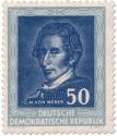 Stamp: Carl Maria von Weber (Komponist, DDR 1952)
