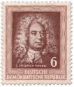 Stamp: Georg Friedrich Händel (DDR 1952)