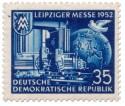 Stamp: Leiziger Herbstmesse 1952 (blau)