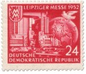 Stamp: Leiziger Herbstmesse 1952 (rot)