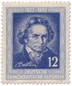 Stamp: 125. Todestag von Ludwig van Beethoven