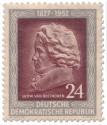 Stamp: Ludwig van Beethoven im Profil