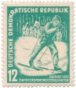 Stamp: Skilangläufer - Oberhof 1952
