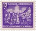 Stamp: Stalinallee Schuttabbau Aufbauprogramm