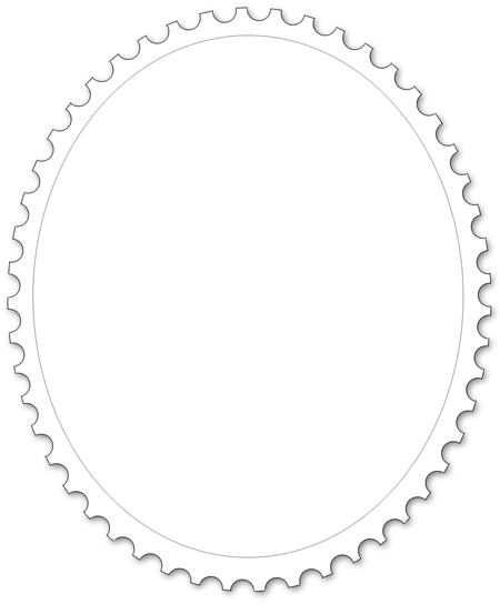 Oval stamp frame
