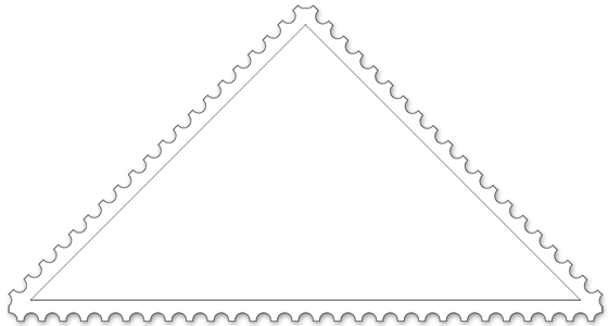 Triangle stamp for coloring